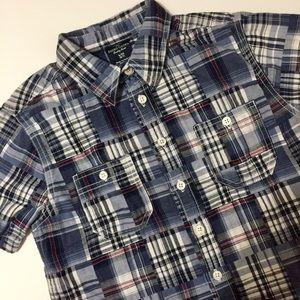❣️5/$25❣️ Blue Madras Plaid Short Sleeve Shirt- Sm